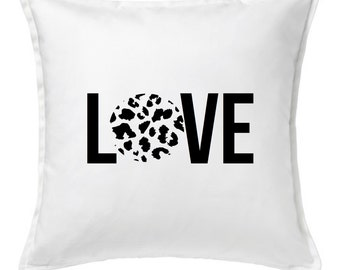 LOVE Cheetah Print  Pillow Cover, 20x20 Pillow Covers, Custom Pillow Cover, Personalized Pillow, Home Decor, Throw Pillow, Decorative Pillow