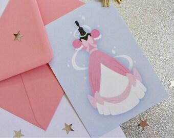 Postcard dress Cinderella