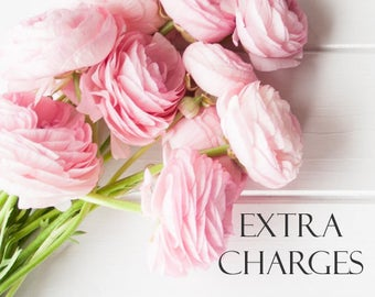 Extra Charges, Additional Charges, Extra Fees, Additional Fees