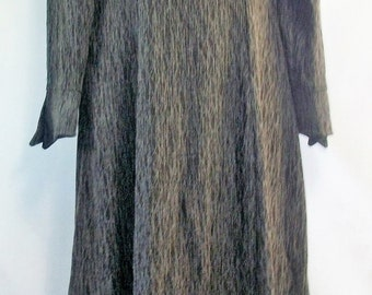Vintage Kinvest Gothic Style Long Gray Dress Sz S