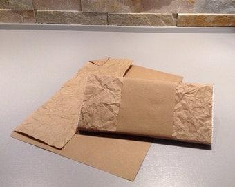 "24 DUO ""Adjust-O-Pak"" sleeve heavyweight 50 lb kraft paper over crumpled lightweight kraft paper 30lb"