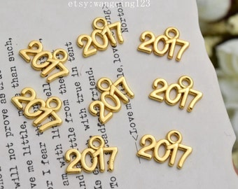 20 of 2017 year charms gold year charm pendants