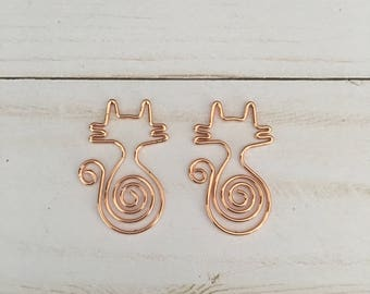Rose Gold Cat Clips (Set of 2)