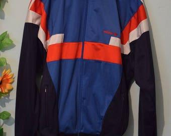 vintage 80s 90s adidas nice design track jacket festival hipster