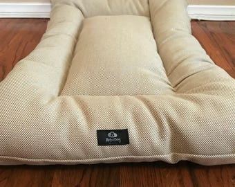 English Cottage House Dog Bed, Dog Mat, Crate Mat, Crate Pad, Puppy Bed