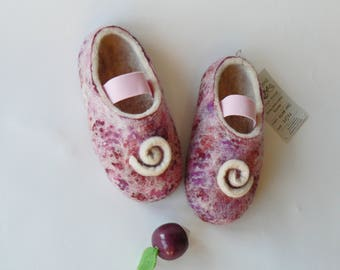 Girls' wool slippers-Felted slippers-HANDMADE slippers for Kids'