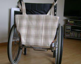 Wheelchair Bag  Wool Tweed