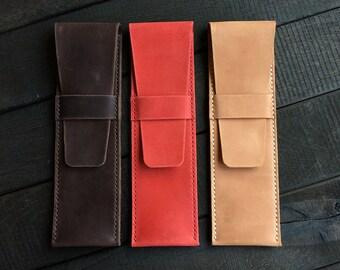 Leather pencil case Pencil case Leather pen case