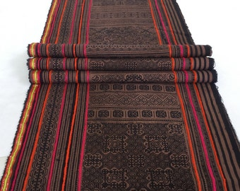 Clearance Sale!!!Hmong cotton,vintage Batik fabric textiles,table runner,fabric textiles decorated embroidery Hmong hill tribe From Thailand