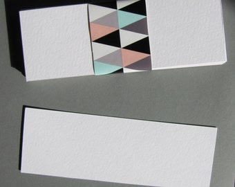 Bookmark-16x5cm watercolor paper 300gr blank blank (set of 20)