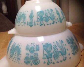 Vintage Pyrex Amish Butterprint Bowls