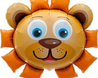 "35"" Lion balloon, birthday decoration, photo prop, first birthday, animal birthday, jungle party decoration, animal lover"