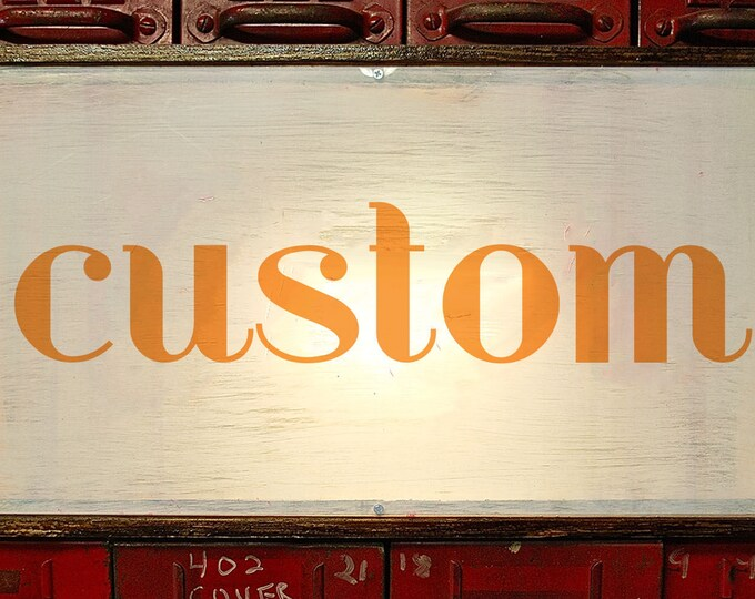 SALE! Art Deco Bold Custom Light Box Sign