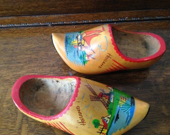 Dutch Wooden Shoes Vintage Holland by Widhalms Collectibles