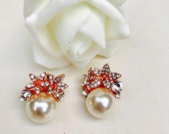 Pearl earrings, gold earrings, birthday present, gift for her, ivory pearl Earrings, gold jewellery ,wedding earrings,