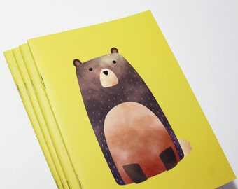 A5 Cute Bear Notebook. 20 lined pages. Matte lamination pleasant to the touch.