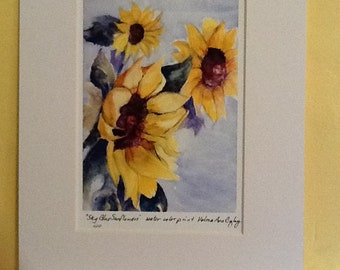 Sky Blue Sunflowers