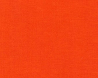 "Robert Kaufman   ""Kona""   Tangerine    Cotton"