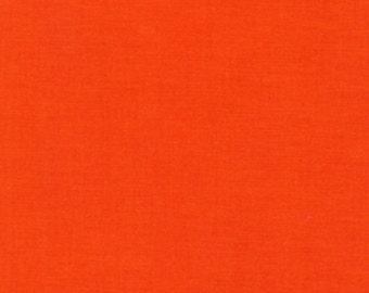 """Robert Kaufman   """"Kona""""   Tangerine    Cotton"""