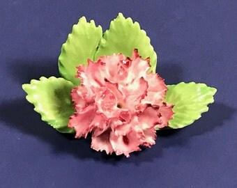 ROYAL ADDERLEY FLORAL porcelain flowers fine bone china England made pink carnation similar capodimonte figurine