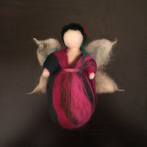 Elette - wool fairy, needle felted, Waldorf Inspired Wool Fairy, wool fairy ornament, decor