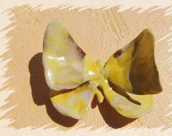 Butterfly yellow Dekoschmetterling vintage butterfly yellow flower