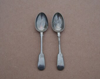 Teaspoons - Silver Plated - Pinder Bros - Fiddle Pattern - Vintage Silverplate
