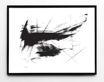 Brushstroke, Brushstroke Print, Brushstroke Poster, Modern Decor, Digital Prints, Printable Download, Abstract Art, Contemporary Art, Art