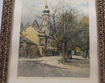 Robert Kasimir - Grizing Church - Signed Etching