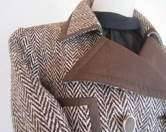 Vintage 60s costume costume of Jobis wool silk S