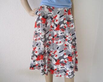 Vintage 60s skirt Jersey cotton skirt Franks forests Germany rock S / m