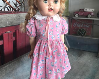 1950s Ideal Saucy Walker Doll |  16 Inch Saucy Walker Baby Doll