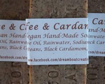 Vegan Olive Oil Soap with Coffee & Cardamom