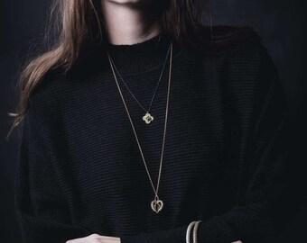 18k Gold Vermeil Full Heart Pendant