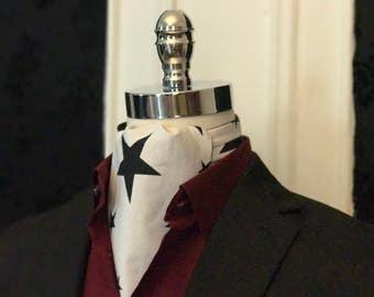 David Bowie Blackstar Inspired Reversible Cravat // Black Star Print Reversible Cravat // David Bowie Blackstar Inspired Reversible Ascot