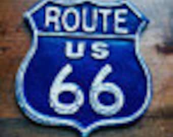 Cast Iron Route 66 Signs