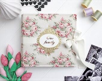 White Wedding Photo Album, Bridal Shower Guest Book, Personalized Photo Album, Wedding Scrapbook Album, Engagement Photo Album, Instax Album