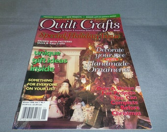 Quilt Crafts Magazine, Winter 1998, Lady's Circle patchwork Quilts, Christmas projects, Gift Ideas