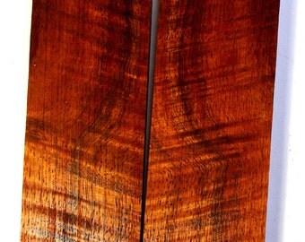 Quilted Hawaiian Koa Knife Scales/Gun Grips