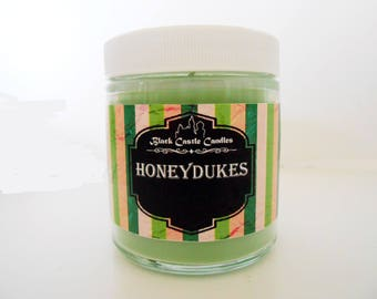 Honeydukes Sweetshop Candle -  Harry Potter Inspired - Black Castle Candles - Soy-blend Wax - 4 oz Container