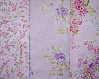 Shabby Chic Florals by Shabby Chic - Quarter Yard Bundle - 3 pieces