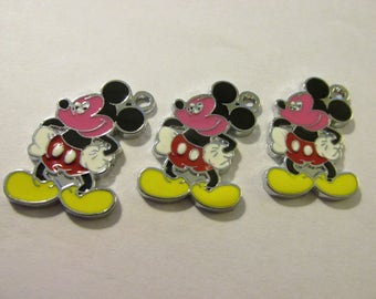 "Mickey Mouse Charms, 1"", Set of 2"