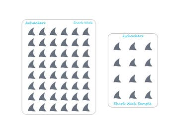 Shark Fin Stickers | Shark Week | Period Tracking stickers