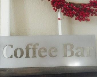 Coffee Bar Metal Sign