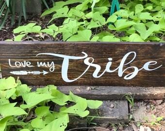 Love My Tribe Sign, Love My Tribe, Arrow Decor, Rustic Love My Tribe, Love My Tribe Decor, Shabby Chic Decor, Wedding Sign,  My Tribe,