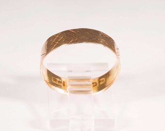 18K Yellow Gold Well Worn Victorian Band, size 8