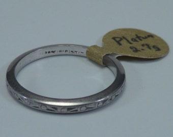 """Platinum Wedding Band """"Estate Piece"""" , size 5.5"""