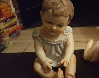Porcelain Baby Boy Figurine