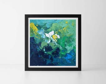 Abstract Painting Modern Oil Painting Large Abstract Wall Art Living Room Bedroom Office Gift for Her Gift For Mom Abstract Flowers Gift Art