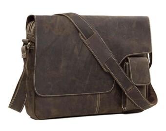 SALE Handmade Vintage Leather Mens Messenger Bag, Crossbody Shoulder Bag, Satchel Bag
